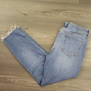 Gap Jeans Girlfriend Medium Destroy Sz 30 10